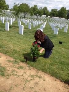 Washington DC putting flowers on Mom's gravephoto