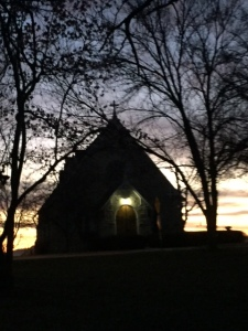 Lil' Chapel in early morning sunrise